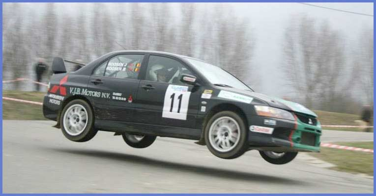Black Rally Car