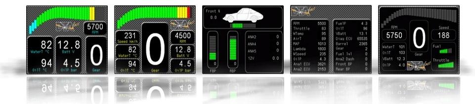 SX-Dash screens